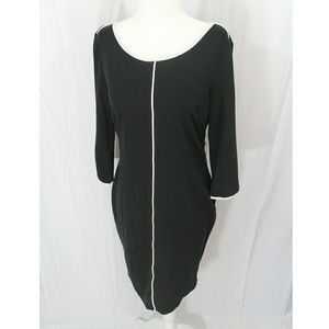 Venus Black Dress with Sleeves